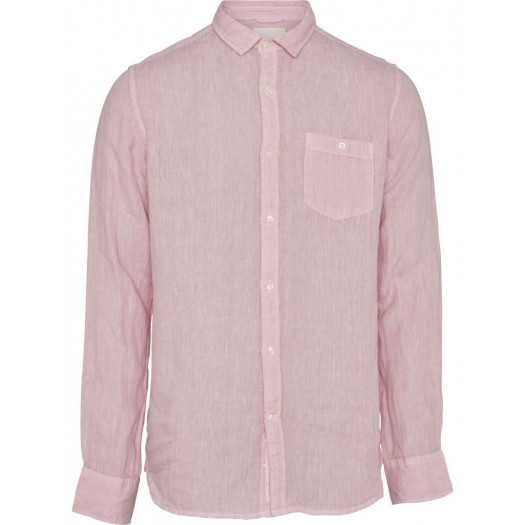Chemise Fabric dyed linen Pink knowldge cotton