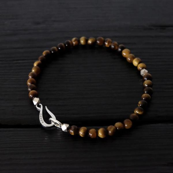Bracelet perles argent Orner