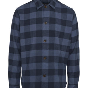 Knowledge Cotton Apparel Organic Brushed Checked Flannel Shirt Total Eclipse x ID efcacbfbfeaac