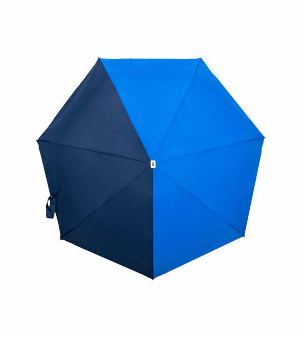 Parapluie pliant bicolore bleu roi bleu marine Anatole