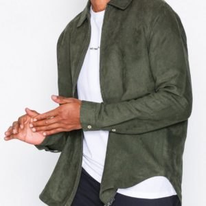 knowledgecotton apparel suede hood jacket by knowledge cotton apparel