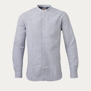 knowledge cotton apparel chemise stand collar