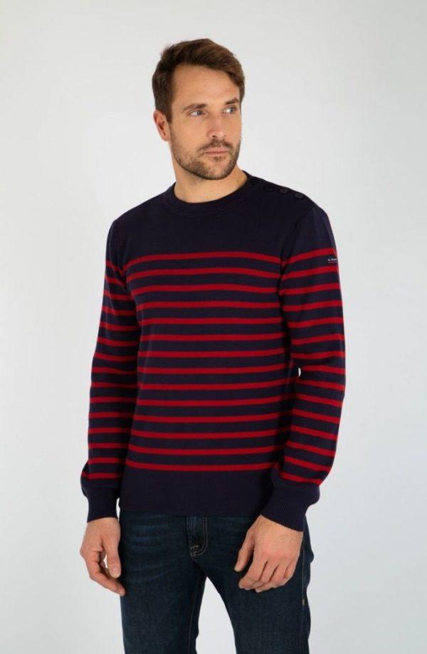 pull marin raye groix coton