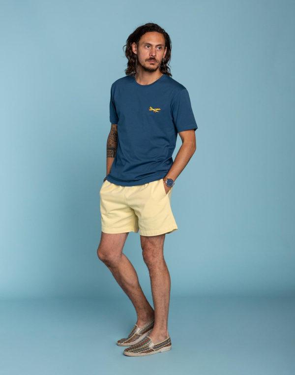 t shirt landing bleu
