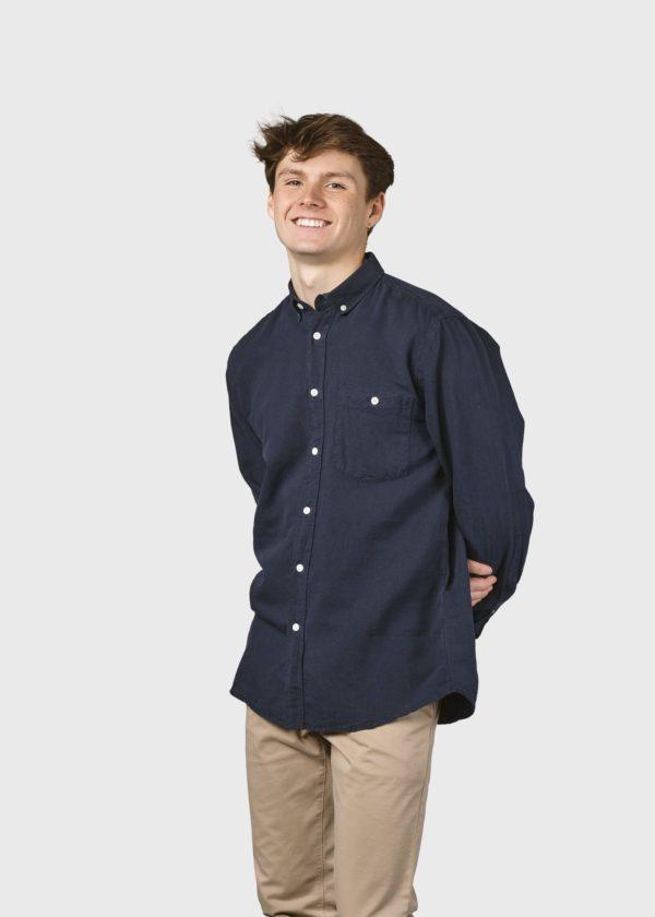 Benjamin linen shirt Shirts KC Navy x