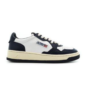 autry action shoes wmns medalist low leat leat wht blue aulwwb sneaker packshots