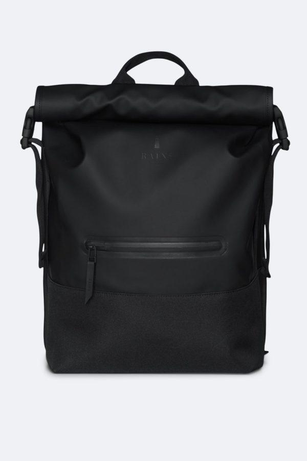 Buckle Rolltop Rucksack Backpacks Black x crop center