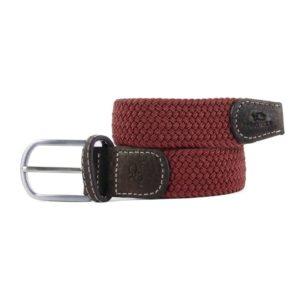 ceinture tressee elastique acajou