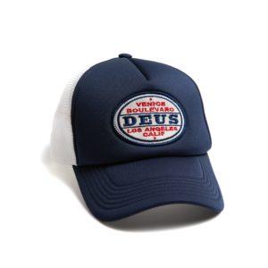 deus cap certified trucker navy